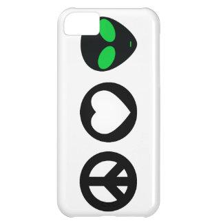 Peace Love Alien iPhone 5C Case