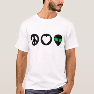 Peace Love Alien T-Shirt
