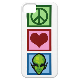 Peace Love Aliens iPhone 5 Case