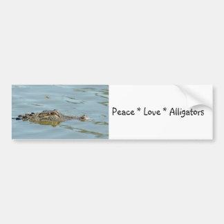 Peace Love Alligators Bumper Sticker