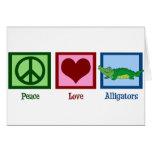 Peace Love Alligators Cards