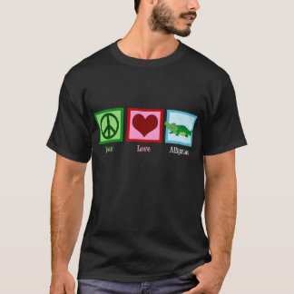Peace Love Alligators T-Shirt
