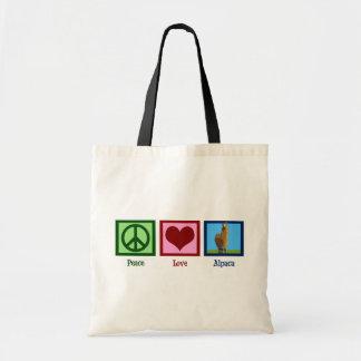 Peace Love Alpaca Tote Bag