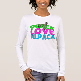 Peace Love Alpacas Long Sleeve T-Shirt