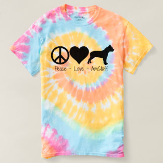 Peace Love American Staffordshire Terrier T-shirt