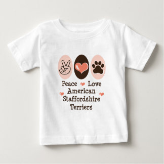Peace Love Amstaff Terriers Infant Tee Shirt