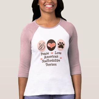 Peace Love Amstaff Terriers Raglan Tee