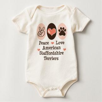 Peace Love Amstaffs Organic Infant Bodysuit
