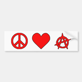 Peace Love Anarchy Bumper Sticker