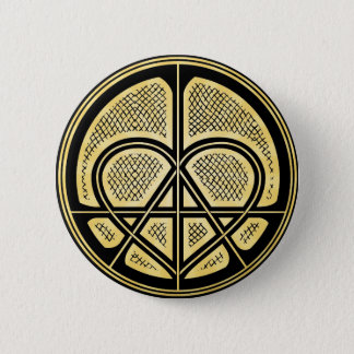 PEACE LOVE ANARCHY Humanitarian Symbol Button