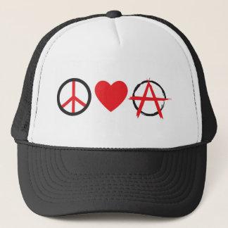 Peace Love Anarchy.jpg Trucker Hat