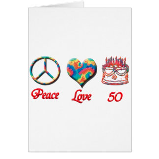 Peace Love and 50 Card