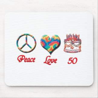 Peace Love and 50 Mouse Mat