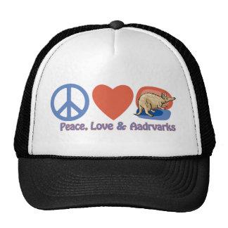 Peace, Love and Aardvarks Cap