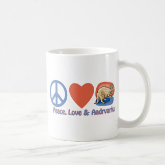 Peace, Love and Aardvarks Coffee Mug