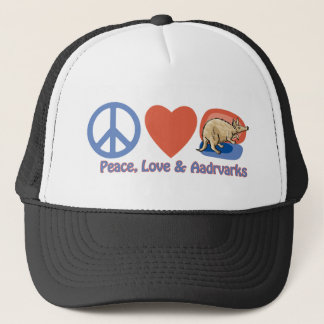Peace, Love and Aardvarks Trucker Hat