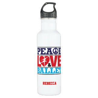 Peace, Love and Ballet Liberty Bottle 710 Ml Water Bottle
