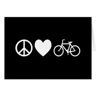 Peace Love and Bicycles Card