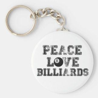 Peace Love and Billiards Key Chains
