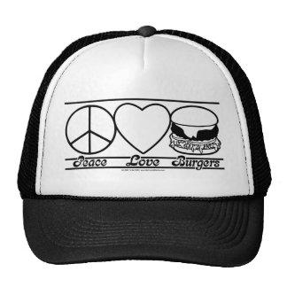 Peace Love and Burgers Cap