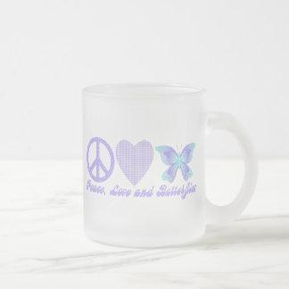 Peace Love and Butterflies Coffee Mug