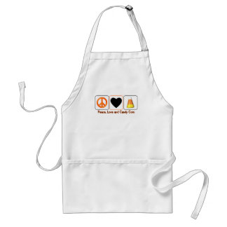Peace, Love and Candy Corn Standard Apron
