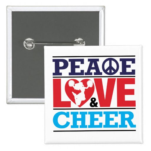 Peace, Love and Cheer Button