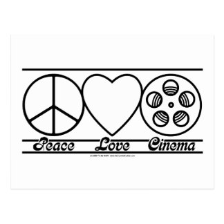 Peace Love and Cinema Postcard
