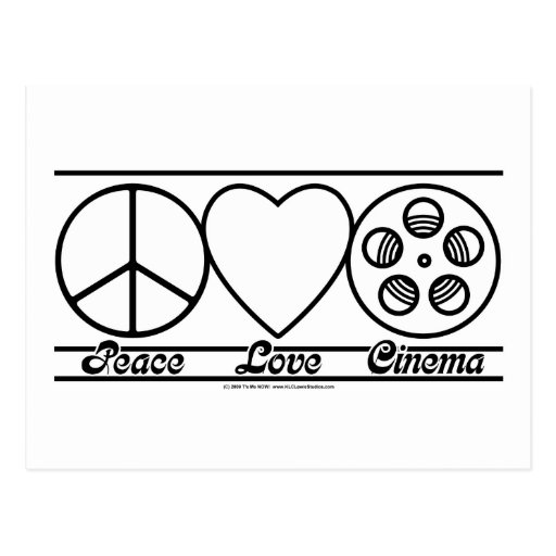 Peace Love and Cinema Post Card