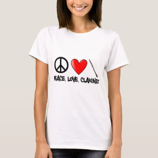 Peace, Love, and Clarinet T-Shirt