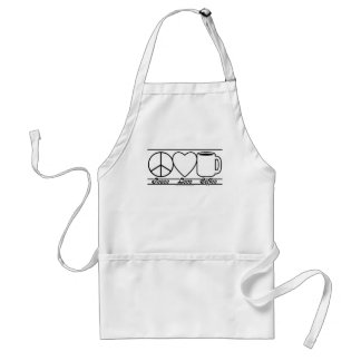 Peace Love and Coffee Standard Apron
