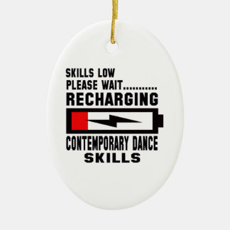 Peace Love And Contemporary Dance Ceramic Oval Decoration
