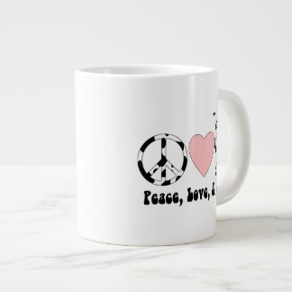Peace Love and Cows Tees and Gifts Large Coffee Mug