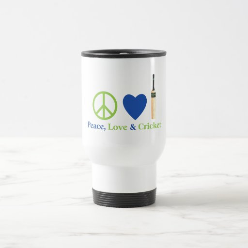 Peace Love and Cricket Tees and Gifts Coffee Mugs