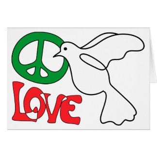 Peace, Love and Dove Blank Card