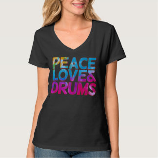Peace love and Drums T-Shirt