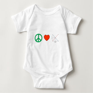 Peace Love and Economics Baby Bodysuit
