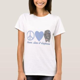 Peace Love and Elephants T-Shirt