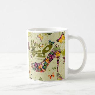 Peace, Love, and Fashion. xo PJ. Basic White Mug