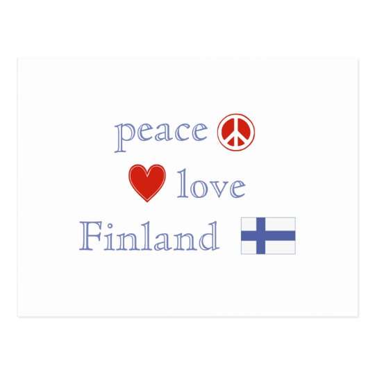 Peace Love and Finland Postcard