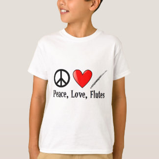 Peace, Love, and Flutes T-Shirt