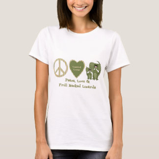 peace love and frill necked lizards T-Shirt