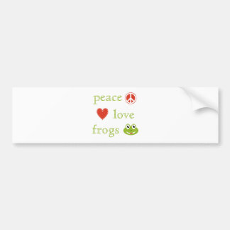 Peace Love and Frogs Bumper Sticker