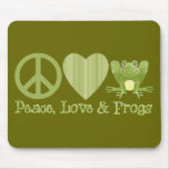 Peace Love and Frogs Mousemats