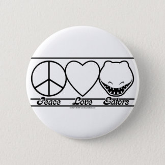 Peace Love and Gators 6 Cm Round Badge