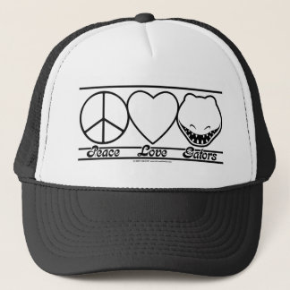 Peace Love and Gators Trucker Hat