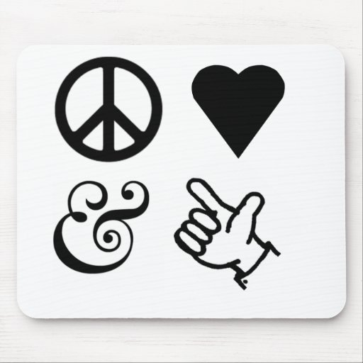 Peace Love And Get Your Guns Up Mouse Pads