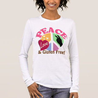 Peace Love and Gluten Free Long Sleeve T-Shirt