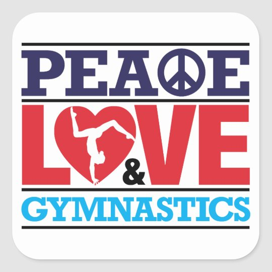 Peace, Love and Gymnastics Sticker
