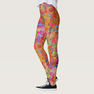 Peace, love and Happiness Leggings
